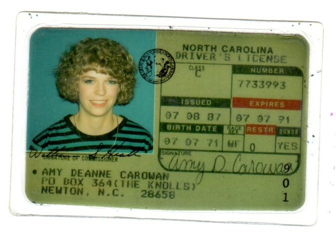 Perhaps this perm from my first drivers' license?
