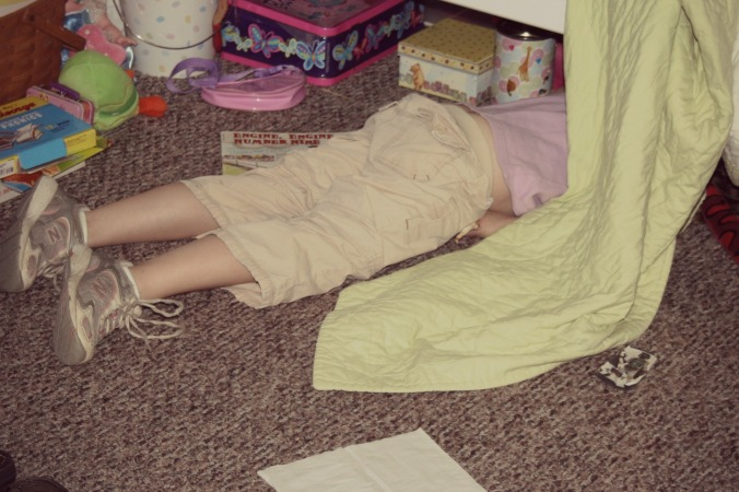 This is how I feel much of the time. Fall down on your face UNDER THE BED tired.